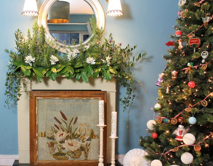 Creating a dramatic mantel garland for under €30