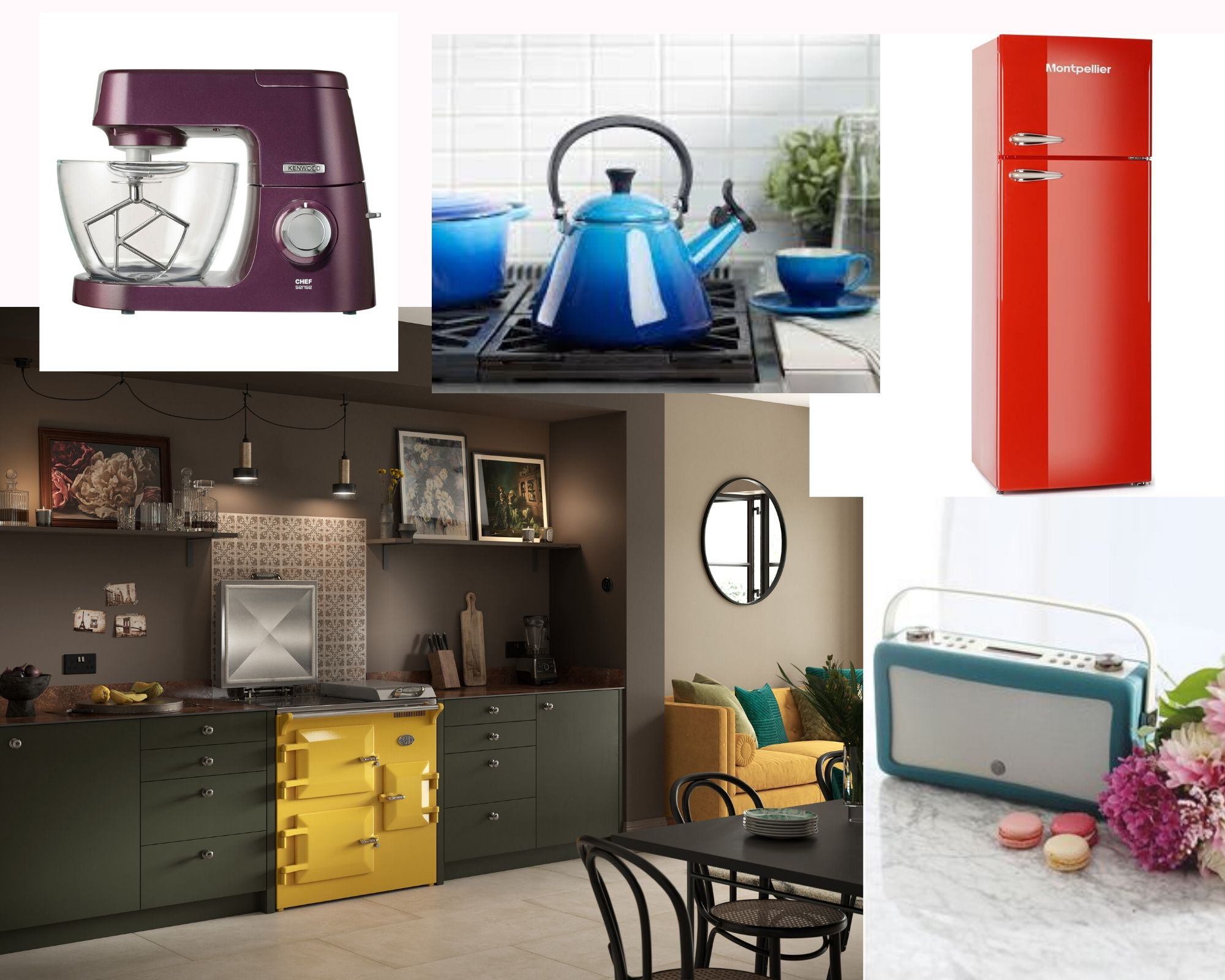 Five bold pops of colour for your kitchen.